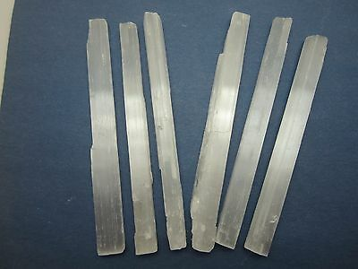 """SELENITE WANDS Lot of 6 Rough 6"""" in. Morocco 311g"""