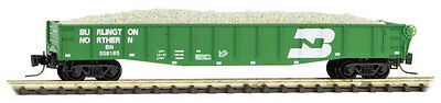 NIB Z MTL #52200282 50' Gondola w/Drop Ends & Load Burlington Northern #558185