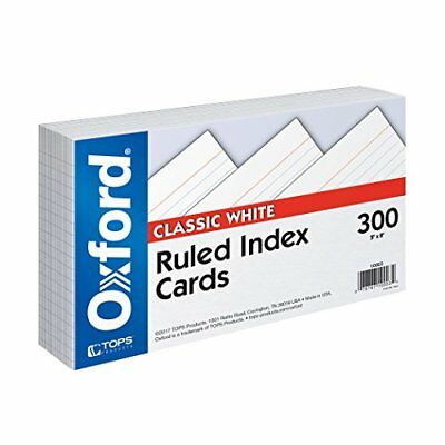 "Index Cards, 5"" x 8"", Ruled, White, 300/Pack (10003EE)"