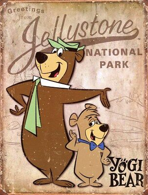 New Yogi Bear Jellystone National Park Metal Tin Sign