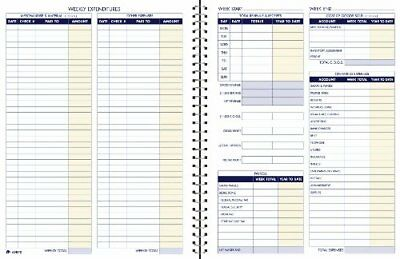 Bookkeeping Record Book, Weekly Format, 8.5 x 11 Inches, White (AFR70)