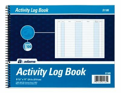 Activity Log Book, Spiral Bound, 8.5 x 11 Inches, 100 Pages, White (S1185ABF)