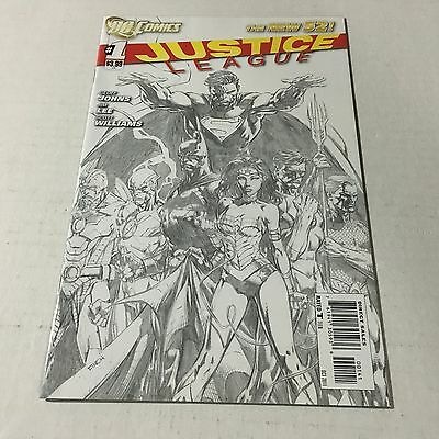 JUSTICE LEAGUE #1 Variant 1:200 DC Sold Out Key Issue 1st Print PENCIL SKETCH