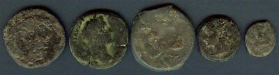 Ancient Roman Coins, Mixed Group Of 5 Coins