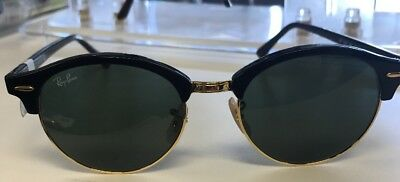 8e8acdac3f Ray-Ban Clubround Classic Sunglasses RB4246 901 Black Frame Green G-15 Lens