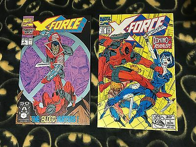X-FORCE #2 & #11 DEADPOOL Run Lot Set 1st Print Sold Out 1992 Marvel 1st DOMINO