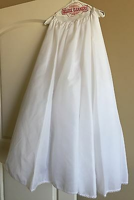 2 layer white a-line wedding dress petticoat, no hoop