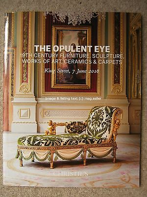 Christie's Auction Catalogue The Opulent Eye 7th June 2016 King Street Art