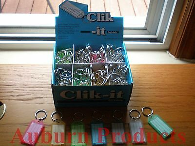 Click-It I.d. Key Tag Labels / 100 Per Box / Assorted Colors / Handsome Display