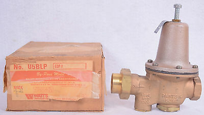 "NEW NIB U5BLP Watts 1"" Water Reducing Valve and Strainer Model 5M2 FREE SHIPPING"