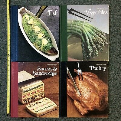 Lot of 4 Time Life The Good Cook COOKBOOKS + MARTHA STEWART HORS D'OEUVRES BOOK