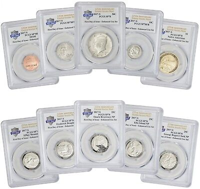 2017-S Enhanced Uncirculated 10 Coin Set SP70 PCGS First Day Issue 225th Ann.