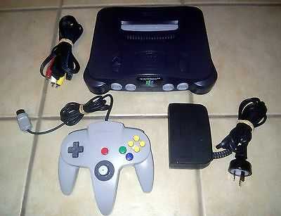 Nintendo 64 Console PAL + Original Controller N64 POSTED FROM AUSTRALIA