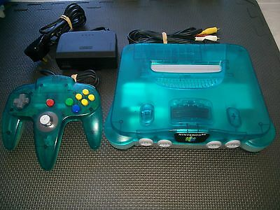 Nintendo 64 Console + Original Controller Ice Blue  Limited Edition PAL N64