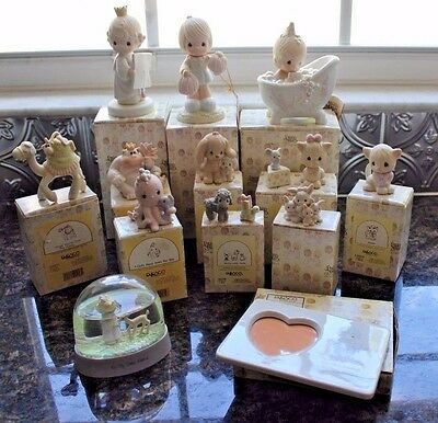 Lot of (11) VINTAGE Precious Moments Figurines w/ Original Boxes + Extras!