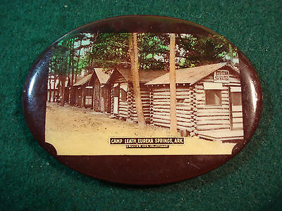 Celluloid Advertising Pocket Mirror Camp Leath, Eureka Springs, Ark.