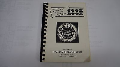 Metro Davidson County 60s cookbook Nashville TN Home Demonstration Clubs