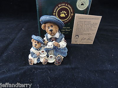Boyds Bears - Catherine and Caitlin Berriweather - Fine Cup of Tea - box too!