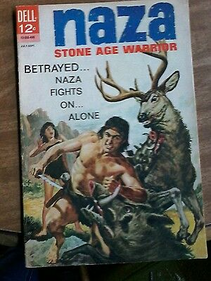 "#3 Naza Stone Age Warrior ""betrayed Naza Fights On... Alone"" July-Sept.1964"