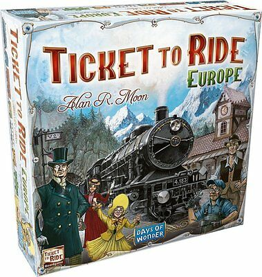 Ticket To Ride Europe Board Game Days Of Wonder Alan Moon Featured on TableTop
