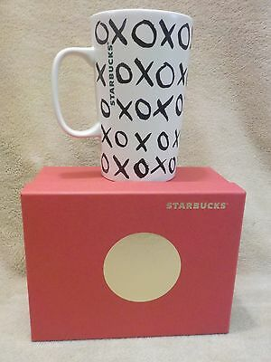 New STARBUCKS Ceramic XOXO Mug Holds 16 fl oz  From Dot Collection NEW IN BOX