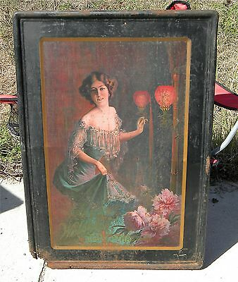 Welsbach Lights And Mantles Rare 1905 Tin Sign