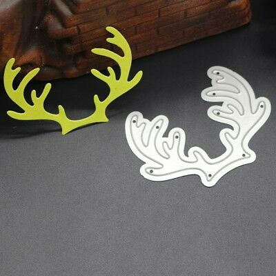 Antlers Cutting Dies Stamps Embossing Stencil for Scrapbooking DIY Paper Crafts