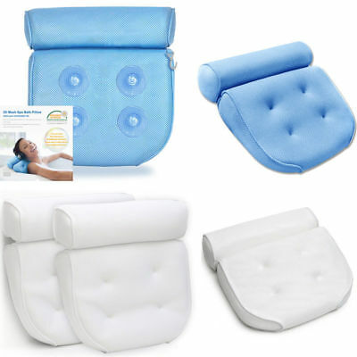 Spa Bath Pillow Home Massage Supports Neck and Shoulders Neck 3D Mesh Poleyester