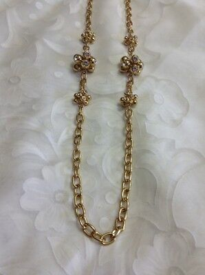 """Kenneth Jay Lane Long 38"""" Crystal Ball Necklace"""