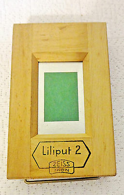 Vintage Liliput 2 Wood Contact Printing Frame by Zeiss Ikon Germany