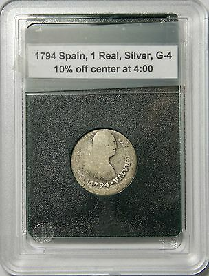 1794 Spain 1 Real Silver – 10% Off Center
