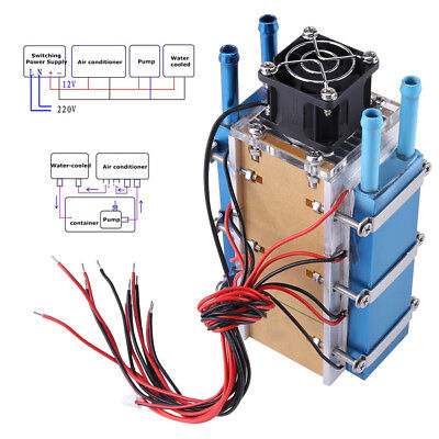 1pc 6-Chip 360W Semiconductor Refrigeration Air Cooling Radiator Water-cooled HH