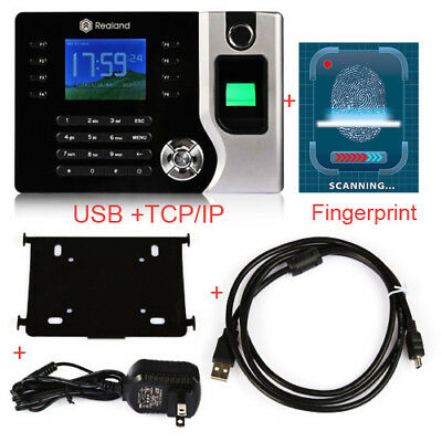 "2.4""Biometric Fingerprint Attendance Time Clock Checking-in Employee TCP/IP+USB"