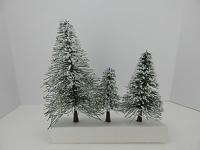 Dept 56 Village Frosted Norway Pines Trees Set of 3 Trees #51756 D56 b
