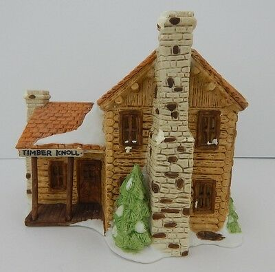Dept 56 New England Village Timber Knoll Log Cabin #65447 D56 Has light cord