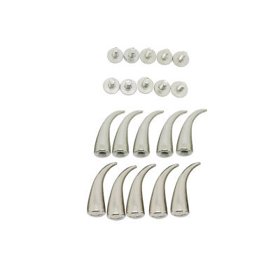 Punk Chic 10 Sets Silver Tone Studs Spike For DIY Leather Bags Shoes Clothes