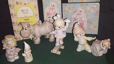 "Precious Moments Cow & Circus Figurines ""lot"" of 9"