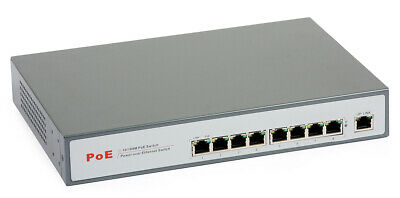 PoE Switch 48V ULTIPOWER 0098at 9x10/100Mbps incl. 8xPoE 802.3at