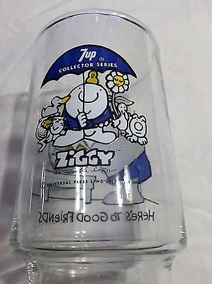 VINTAGE 1977 ZIGGY 7UP Collector Series Drinking Glass 7-UP