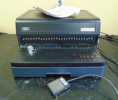 GBC Model No. 111PM-3 Electric Paper Punch-With Foot Control-Works Good-SR247