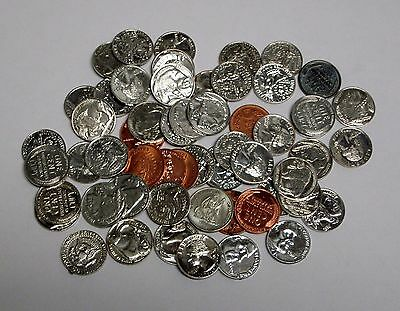 Lot of Miniture U.S. Coin Play Money