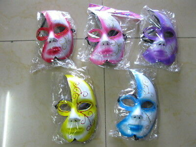 10 Partial Face Mask Dress Up Masks Party Favor Mixed