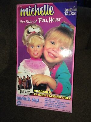 1990 Full House ~ Michelle Tanner Talking Doll ~ NIOB ~ Mary Kate and Ashley