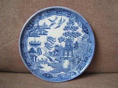 antique WEDGWOOD blue and white WILLOW TEAPOT STAND tea pot SUPERB!