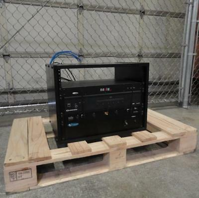 Teleconferencing Audio/Video Equipment Rack | Crestron DM-MD6X1 | Crown 1160A