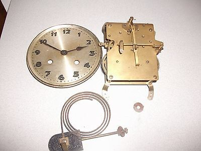 Vintage Mantel Clock Movement - Chime Bar - Face & Hands