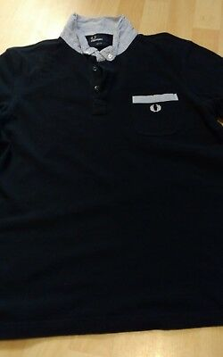 Fred Perry Dark Blue Slim Fit Polo Shirt Size Large Boys