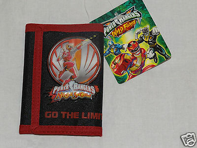 New With Tag Power Rangers Wild Force 2003 Licensed Kids Trifold  Wallet Red