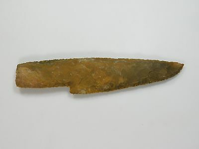"Stone Knife Blade Hunting 7.0"" Skinning Knife Lance Arrowhead Spearhead Knapped"