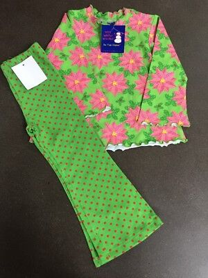 adc1f51534ace Girls Boutique FLAP HAPPY 2T Christmas 2pc Leggings Outfit NEW NWT  Poinsettia